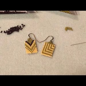 Handmade mismatched beaded earrings